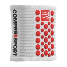 COMPRESSPORT SWEATBANDS 3D.DOTS - WHITE (PAIR) (WSTV2-00RD-TU)
