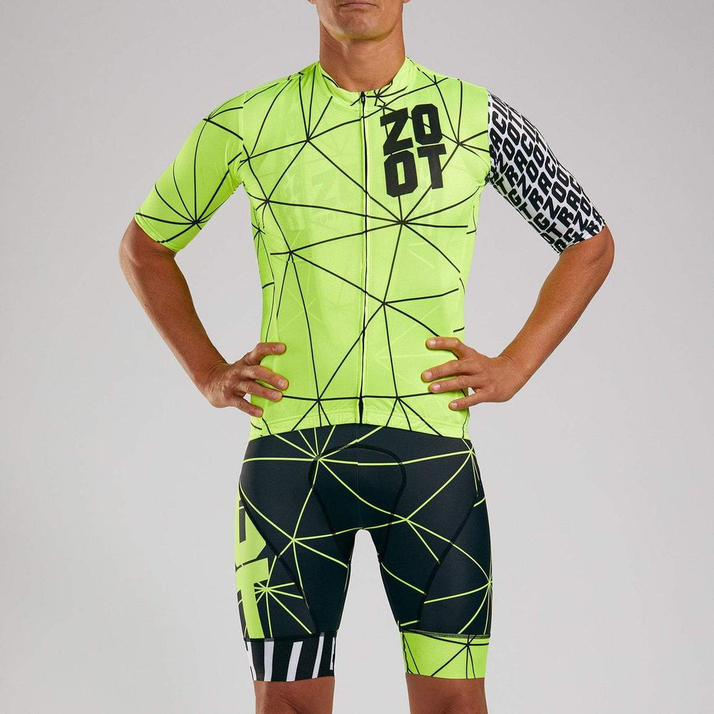 ZOOT MEN'S CYCLE AERO JERSEY - NEON RACING