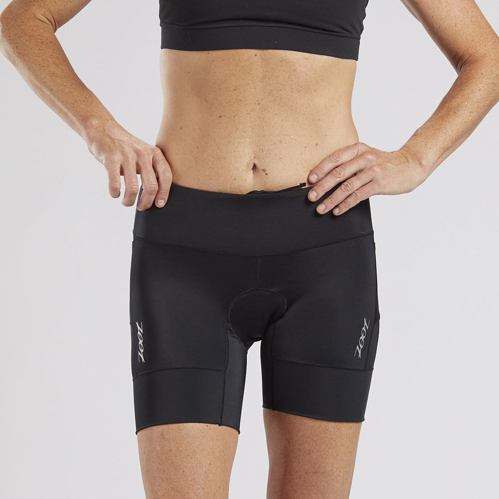 "ZOOT WOMENS CORE TRI 6"" SHORT - BLACK"