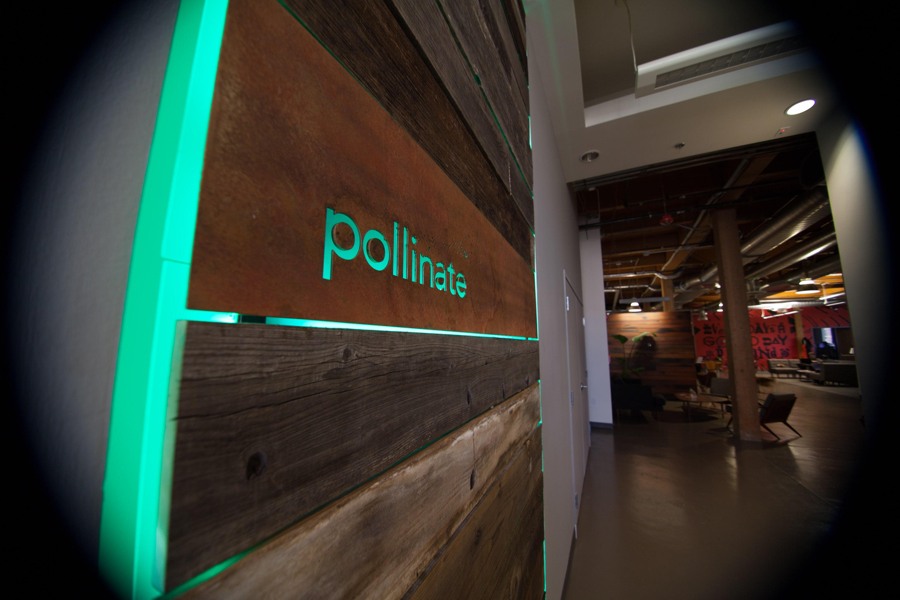 LED Signature Wall for Pollinate