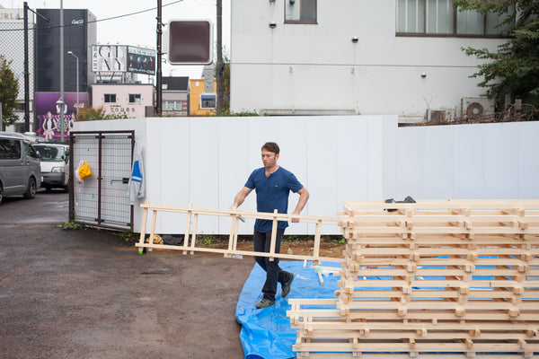 Spencer Staley moving furniture in Tokyo