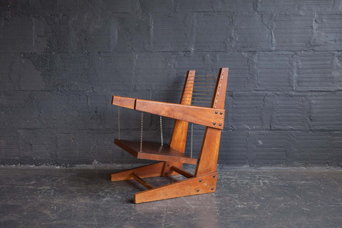 RARE HANGING CHAIR BY PIERRE JEANNERET