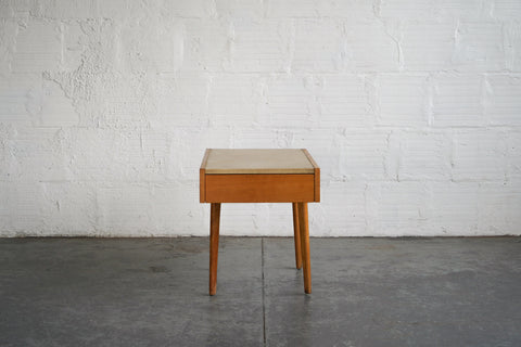 George Nelson Leather Top Side Tables