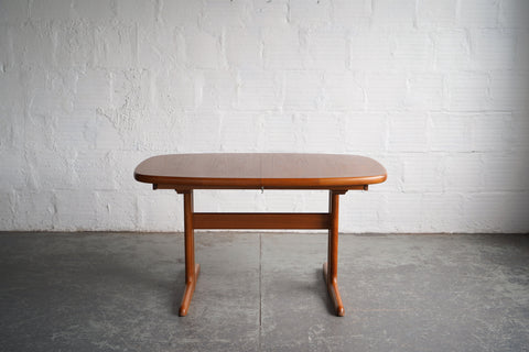 Danish Teak Dining Table with Leaf