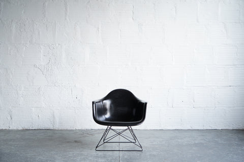 Modernica Eames Fiberglass Armchair on Low Rod Base