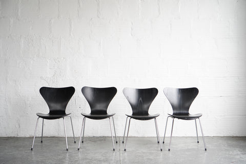 Arne Jacobsen Series 7 Dining Chairs (Set of Four)