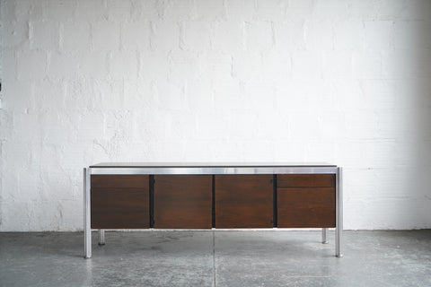 George Ciancimino Rosewood and Cast Aluminum Credenza