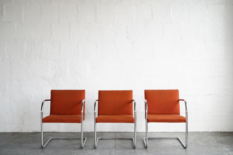 Mies van der Rohe Brno Chairs (Set of 3)
