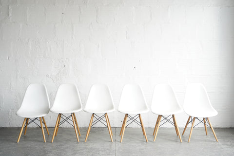 White Shell Chairs (Set of 6)