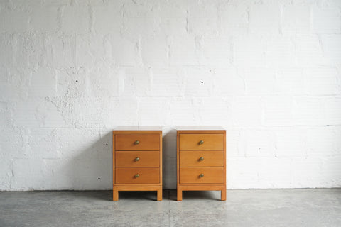 Robsjohn-Gibbings Nightstands for Widdicomb (Set of Two)