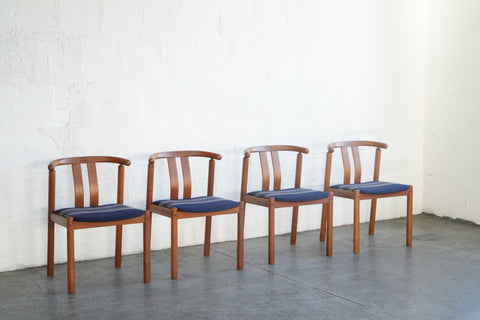 Teak Pendleton Dining Chairs - Set of Four