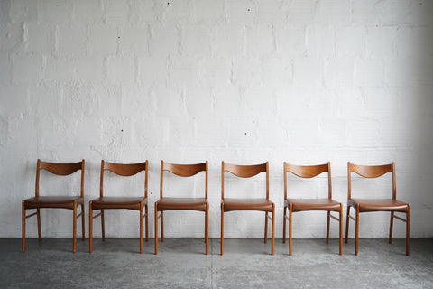 Arne Wahl Iversen GS61 Dining Chairs (Set of Six)