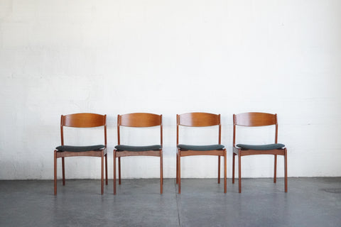 Danish Teak Dining Chairs (Set of Four)