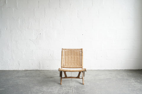 woven rope chord side chair foldable