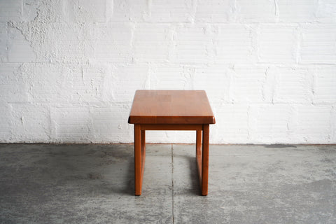 Niels Bach Teak Rectangular Side Table
