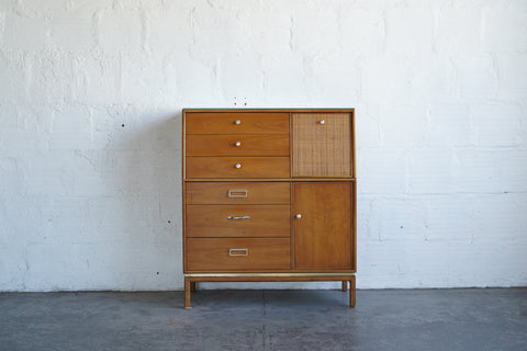 Tall Gentleman's Drexel Suncoast Dresser walnut
