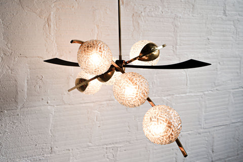 1950s Pendant Light in the Style of Stilnovo