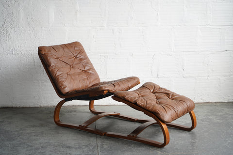 Ingmar Relling Westnofa Siesta Chair and Ottoman