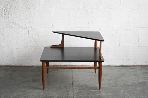 Two-Tier Mid-Century Modern Corner Table