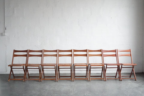 1940s Wooden Folding Chairs