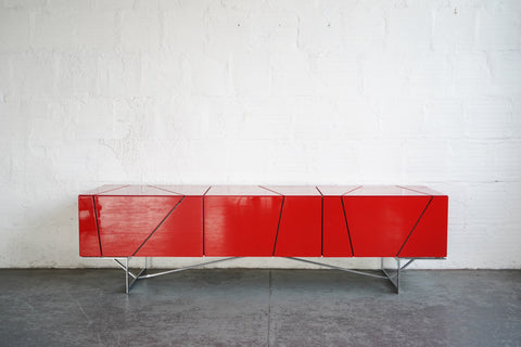 Rostock Modern Red TV Stand