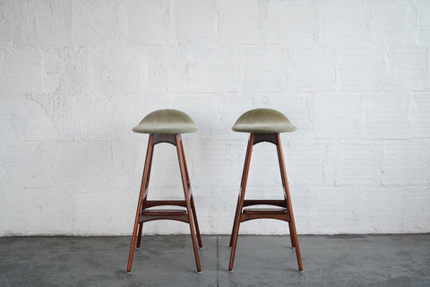 Pair of Rosewood Barstools by Erik Buck