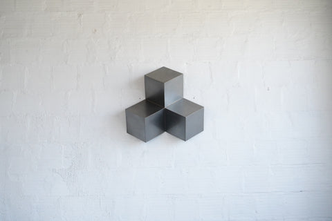 Hanging Steel Cube Sculpture