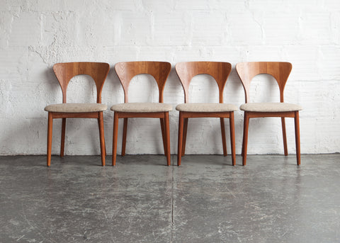 """Peter"" Chair by Niels Koefoed (Set of Four)"