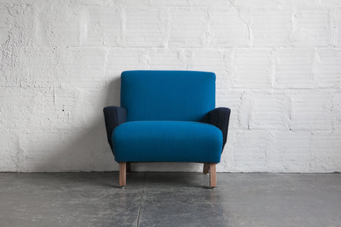 Two Toned French Modern Armchair