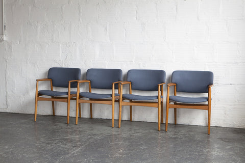 Ejnar Larsen & Aksel Bender Madsen Dining Chairs (Set of Four)