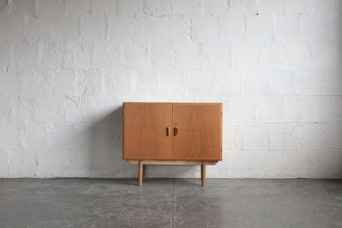 Light Danish Two Door Credenza