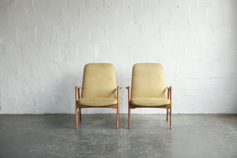 Alf Svensson Highback Lounge Chairs For Fritz Hansen