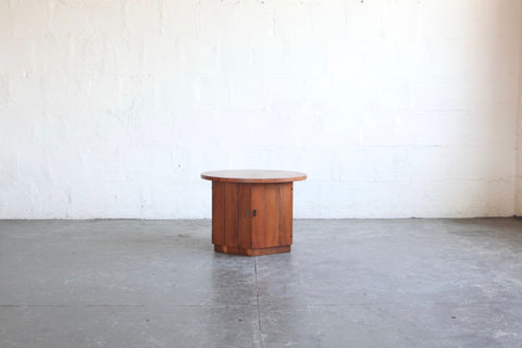 Teak Hexagon Side Table/Cabinet