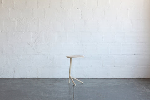 White Ash Tripod Table By Fernweh