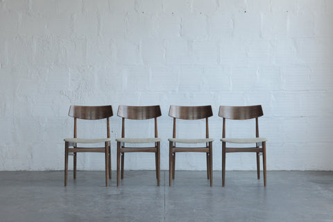 Danish Rosewood Dining Chairs (Set of 4)