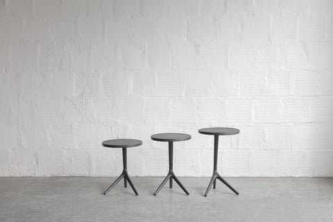 Charcoal Ash Tripod Table By Fernweh