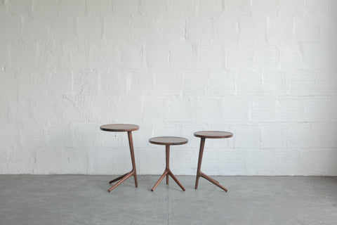 Walnut Tripod Table By Fernweh