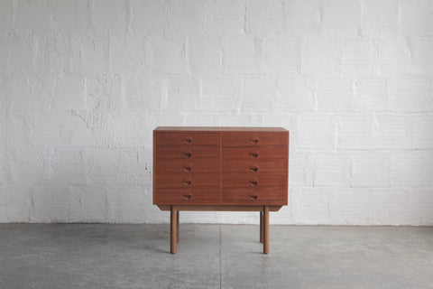 Danish Teak 10 Drawer Dresser
