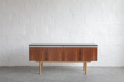 Rosewood Credenza With Oak Base