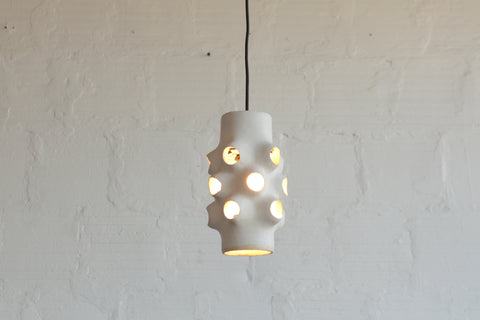Ceramic light, ceramic 3d print, tgm, mcm, mid century furniture, custom lighting