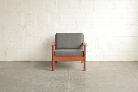 Grey Mid Century Lounge Chair