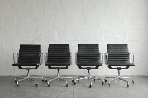 Eames Aluminum Group Executive Chairs