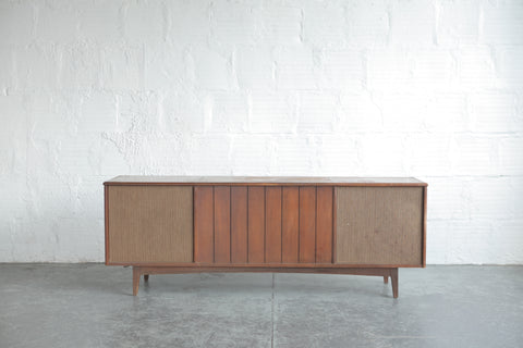 Mid Century Record Player Credenza