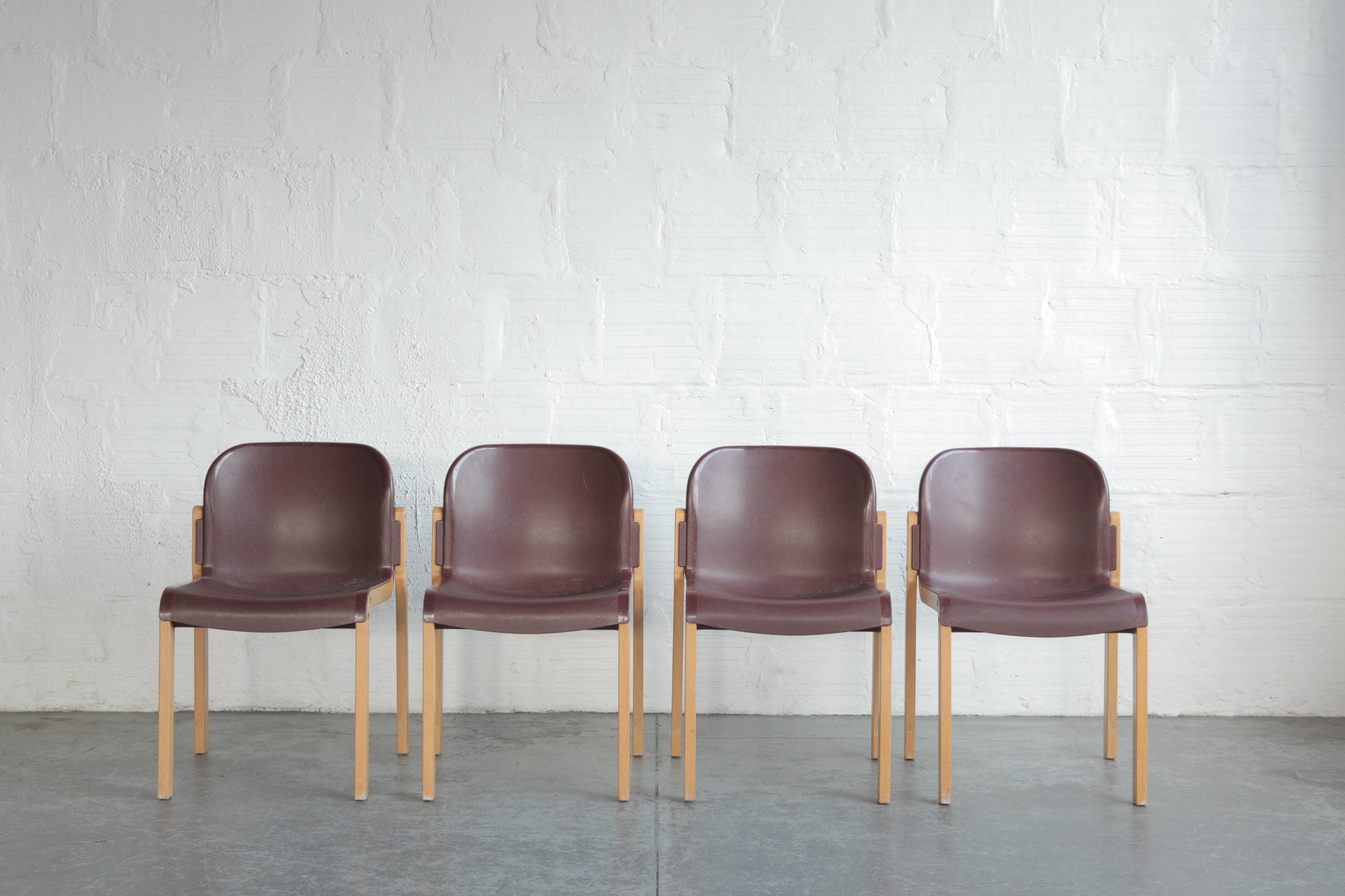 Stackable Bentwood Plastic Thonet Chairs