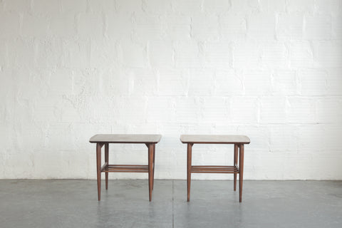 Pair of Walnut Side Tables