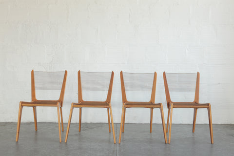 Jacques Guillon Cord Dining Chairs