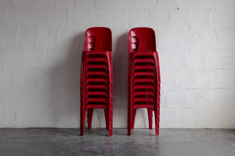 Mobilier D' Exterior NF Plastic Chairs by Henry Massonnet