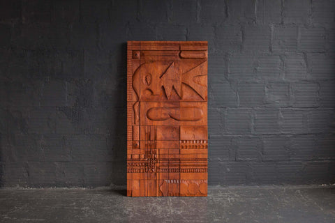 Teak Panel/Sculpture by Leroy Setziol