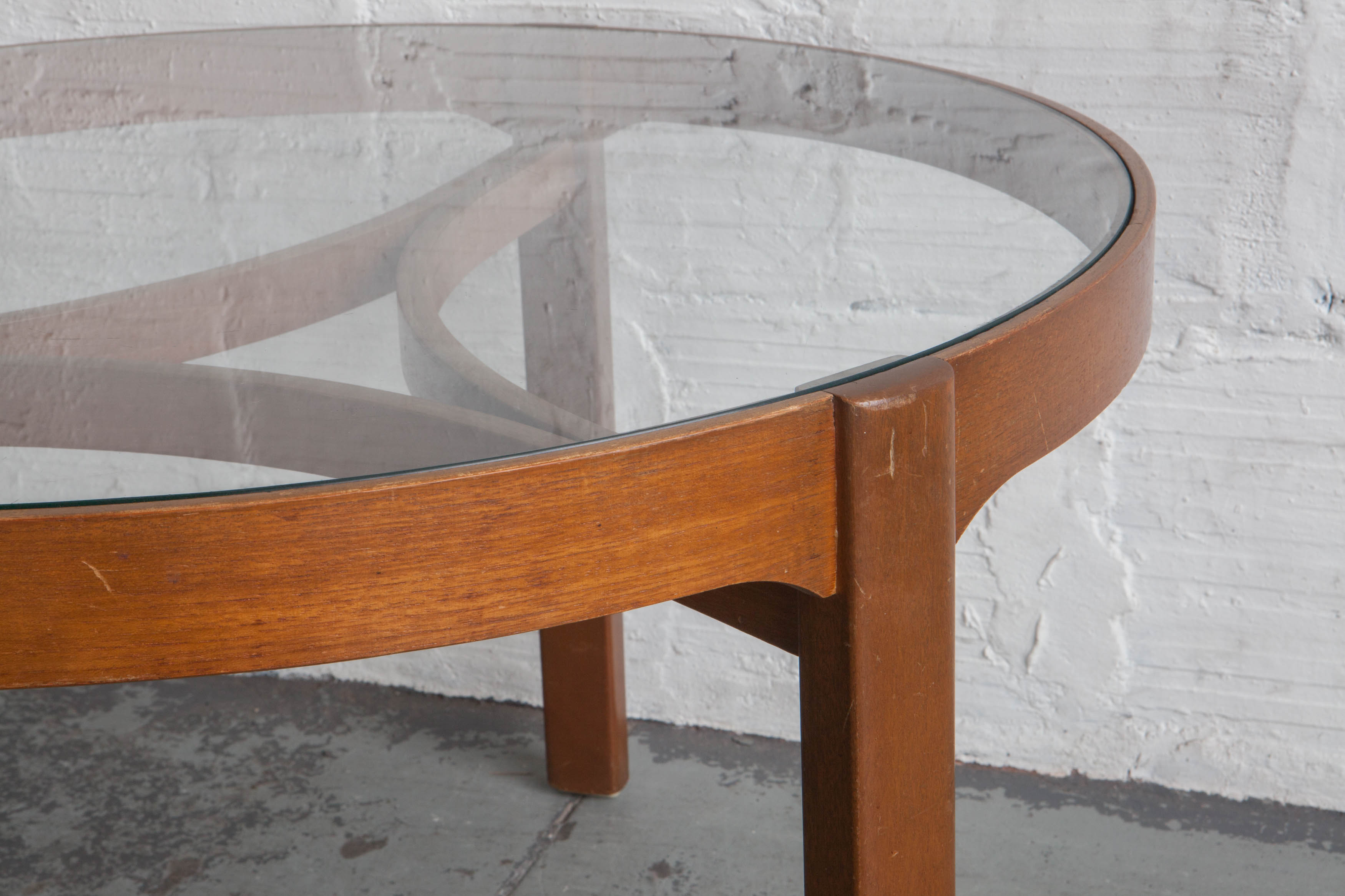 Bamboo Glass Top Coffee Table – The Good Mod