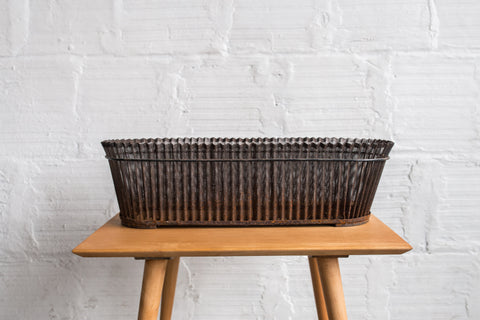 Mathieu Matégot Perforated Iron Jardiniere Basket - Large